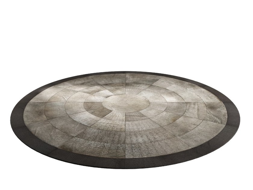 Round horse hide rug KARPET 8 by Capital Collection