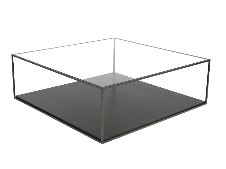Square glass coffee table KARUSA - Canapés Duvivier