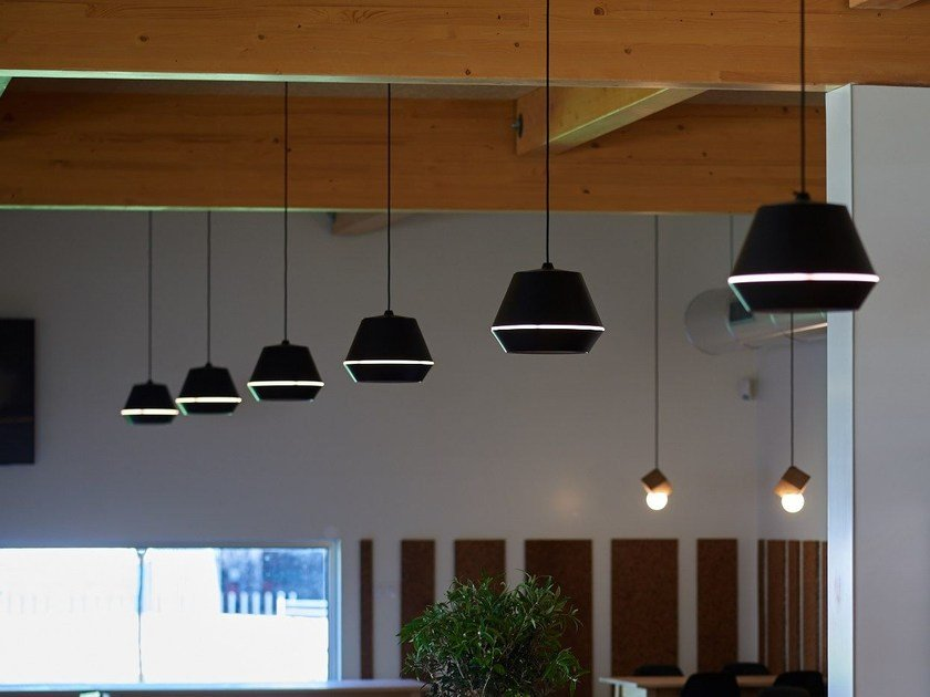 LED direct light aluminium pendant lamp KASA S by Exporlux