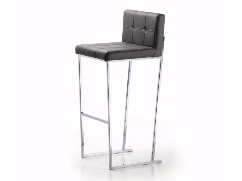 Sled base leather counter stool KATE - Cattelan Italia