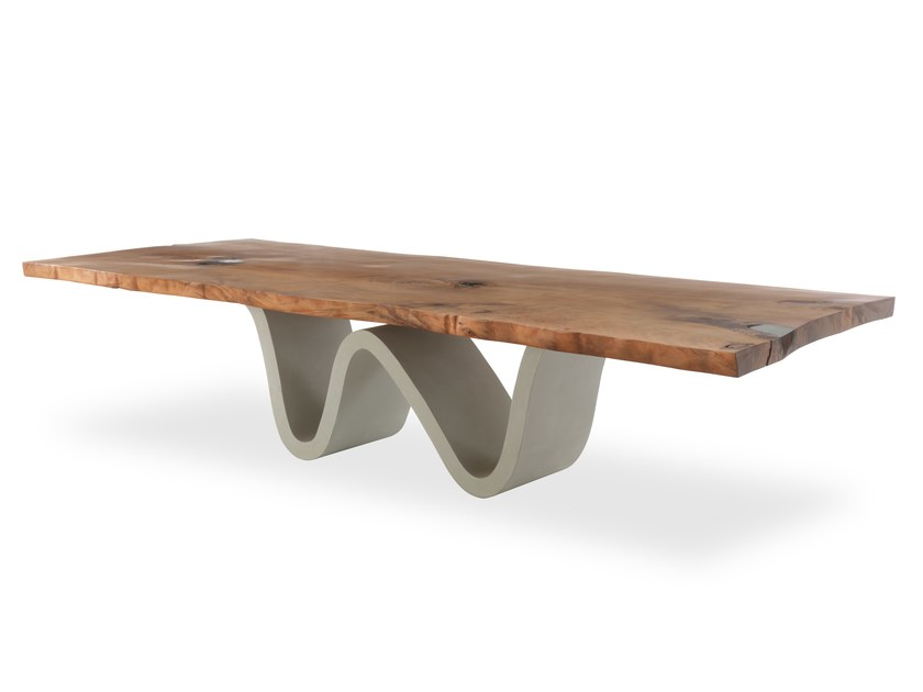 Kauri wood table KAURI BREE E ONDA by Riva 1920
