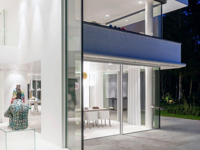 Finestra scorrevole in alluminio con triplo vetro keller - Altezza parapetti finestre normativa ...