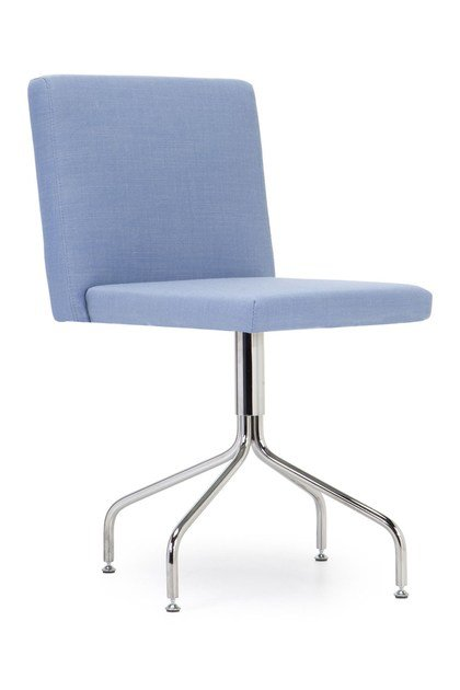 Upholstered trestle-based reception chair KELLY SMALL | Trestle-based chair - Domingo Salotti