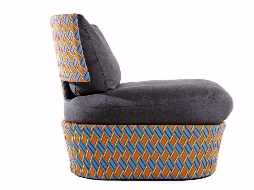 Upholstered armchair with synthetic fiber weaving KENTE | Armchair - Varaschin