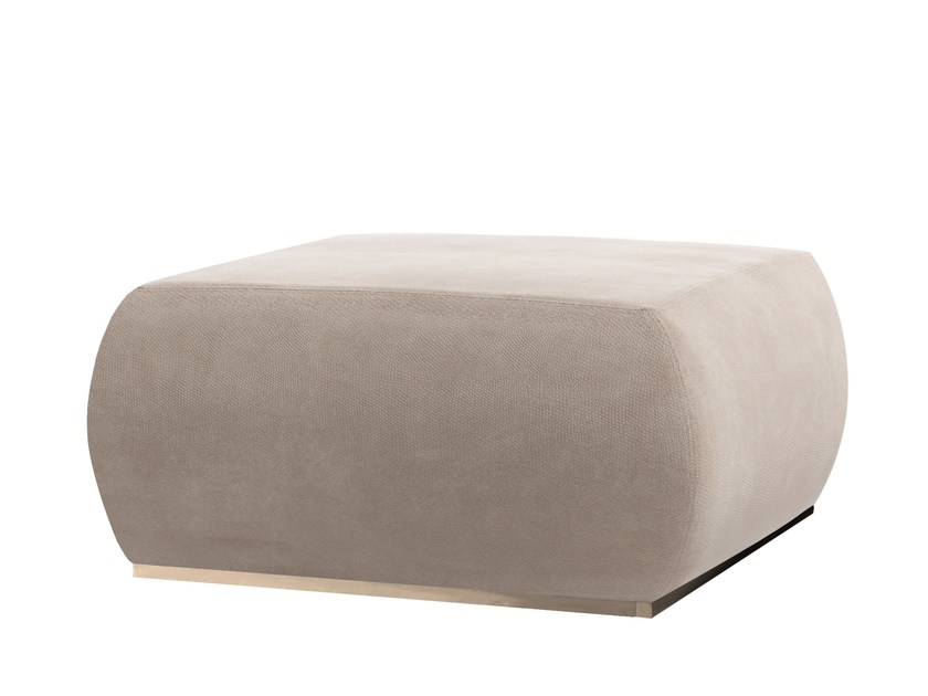Upholstered leather pouf KERAZ by Capital Collection