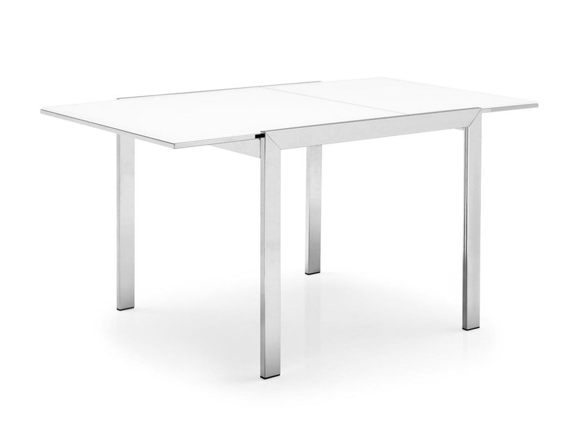 Extending square dining table KEY | Square table - Calligaris