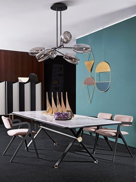 Sedia imbottita con braccioli keyko by gallotti radice - Gallotti e radice tavoli ...