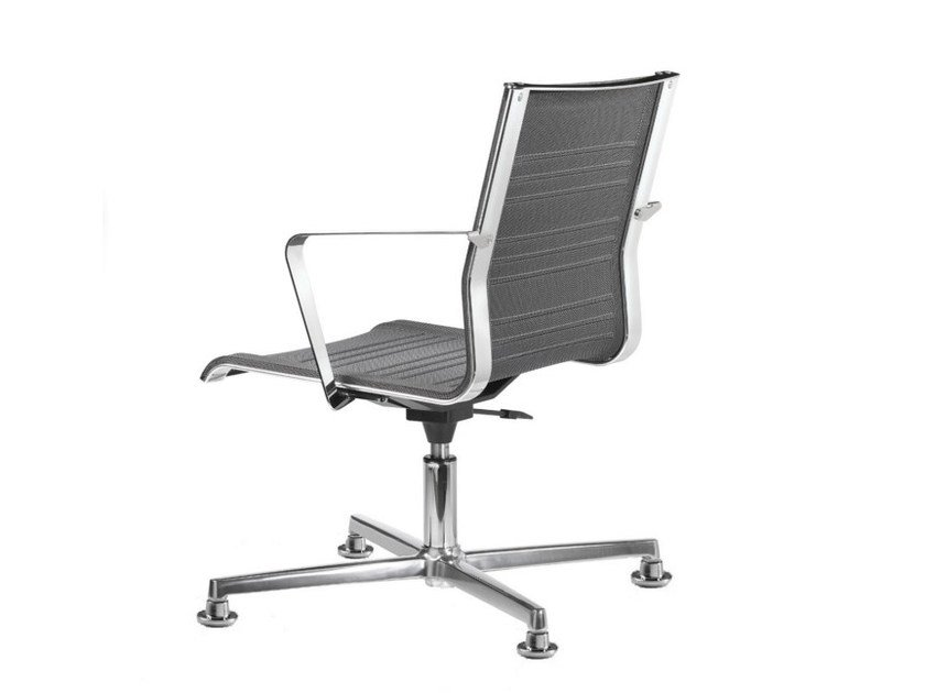 Mesh task chair with 4-Spoke base with armrests KEYPLUS 3157 - TALIN