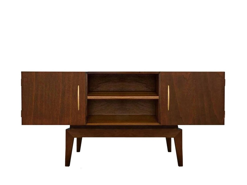 Walnut sideboard with doors KHAO by Moanne