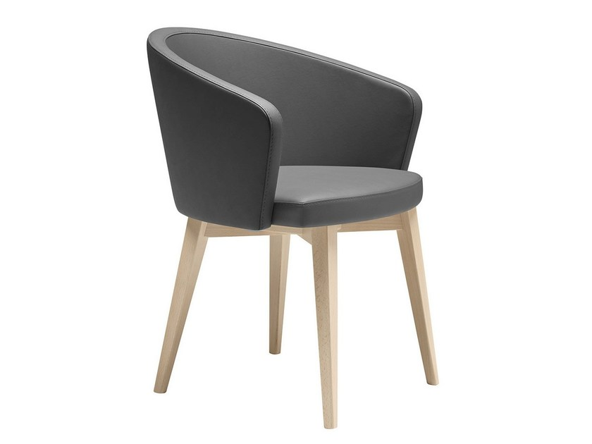 Upholstered wooden easy chair with armrests Kicca 571 - Metalmobil