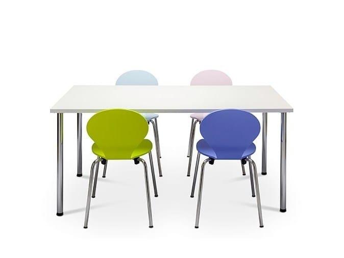 MDF kids table with laminate, linoleum or veneer KIDS by Danerka