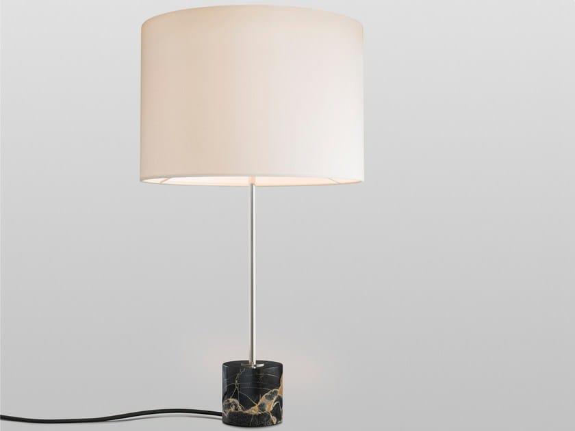 Contemporary style direct-indirect light marble table lamp KILO TL NERO PORTORO - J.T. Kalmar
