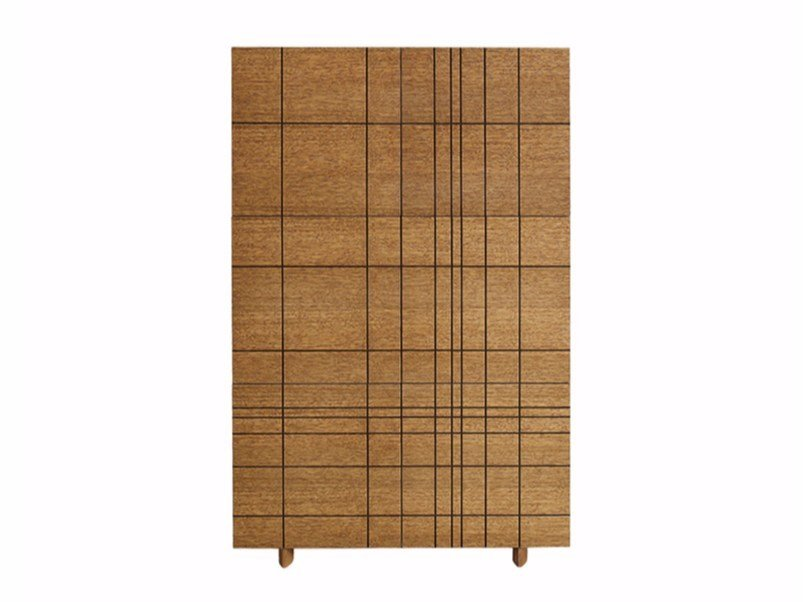 Contemporary style wood-product highboard with doors with drawers KILT K80 by ASPLUND