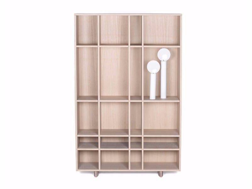 MDF bookcase KILT OPEN   Bookcase by ASPLUND