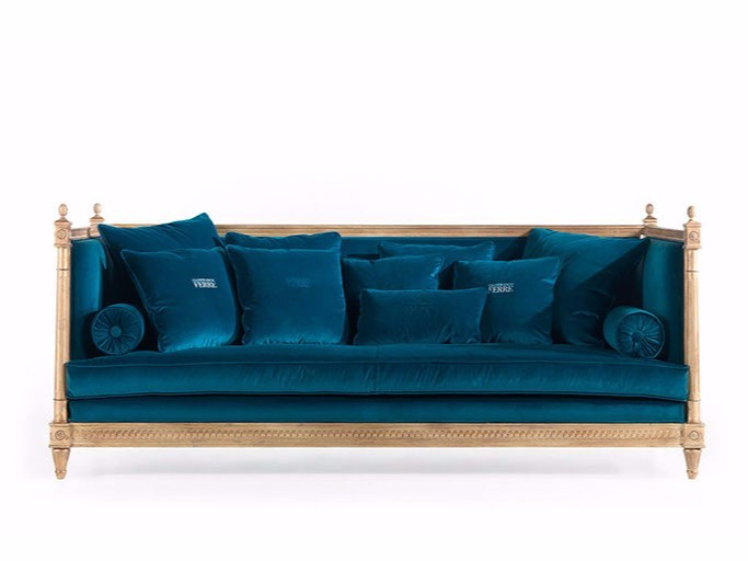 Upholstered 3 seater velvet sofa KING - Gianfranco Ferré Home