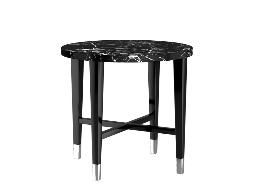 Round marble side table KIRON | Marble coffee table by Capital Collection