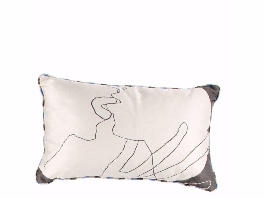 Rectangular jacquard cushion KISS | Cushion - sans tabù