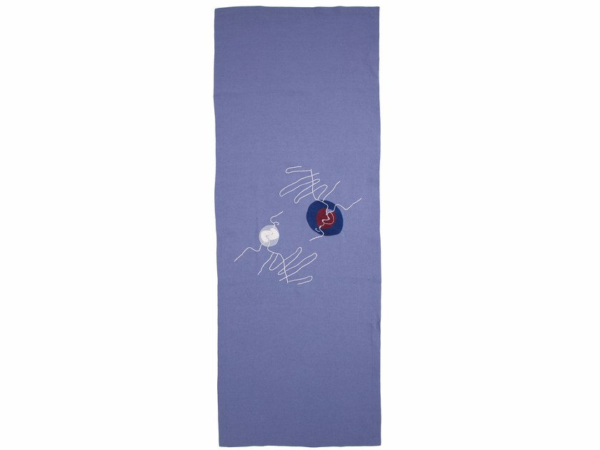 Linen Emboidered tablecloth KISS | Table runner - sans tabù