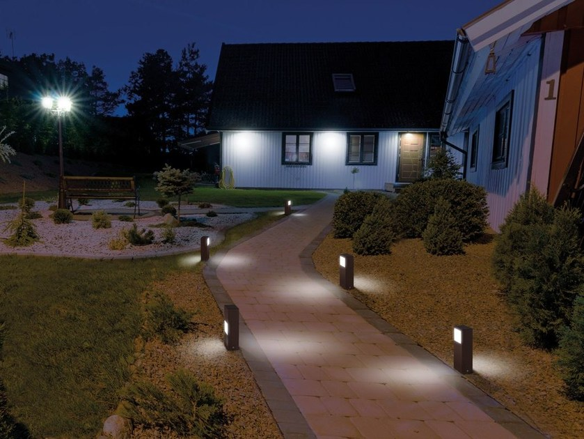 LED die cast aluminium bollard light KIT-10 STILE NEXT POST - Lombardo