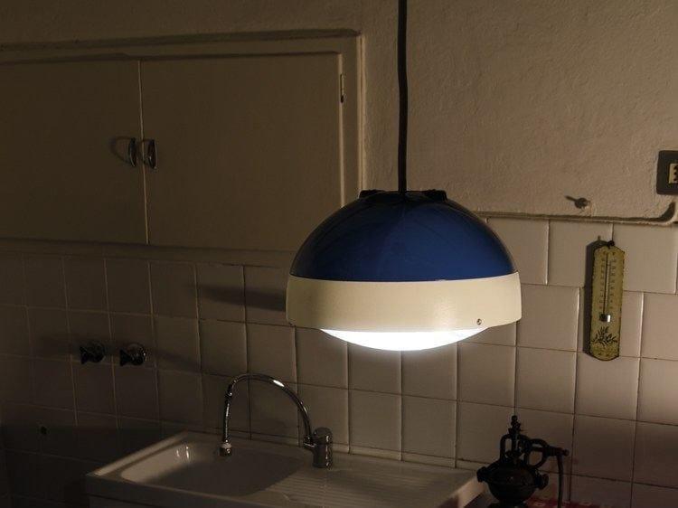 LED polycarbonate pendant lamp KIT-12 QUID 160 - Lombardo