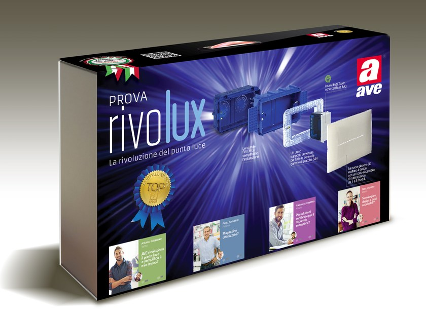 Wall plate KIT RIVOLUX by AVE
