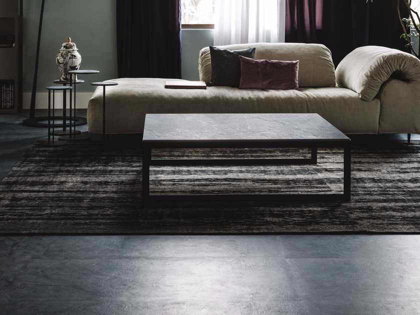 Low rectangular ceramic coffee table KITANO by Cattelan Italia
