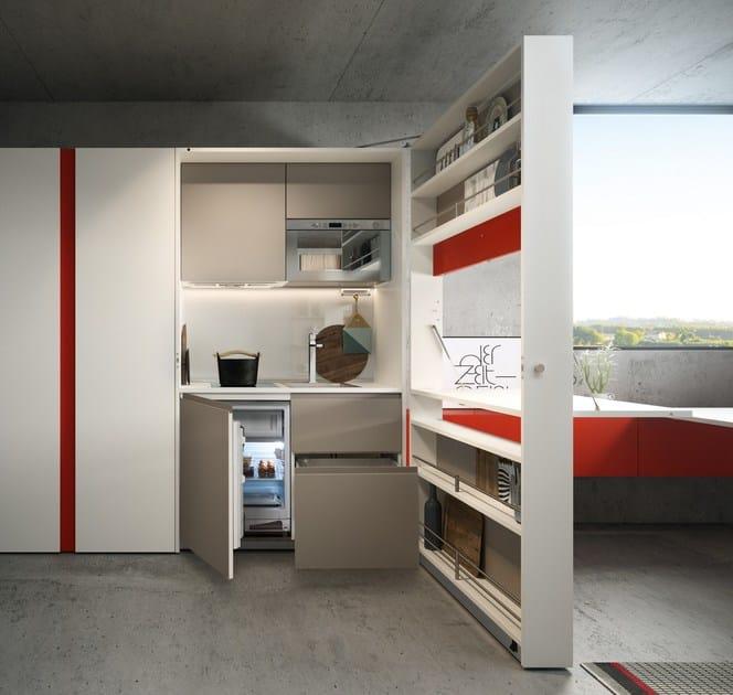 Cucina a scomparsa laccata kitchen box   clei