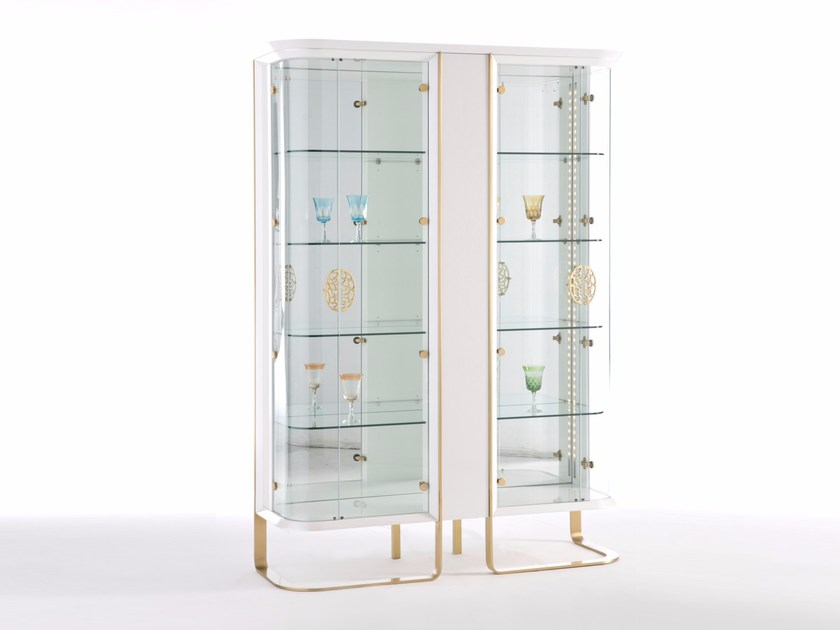 Lacquered display cabinet with integrated lighting KLASS | Display cabinet by Muebles Canella