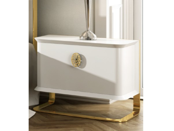 Lacquered rectangular bedside table KLASS   Lacquered bedside table by Muebles Canella