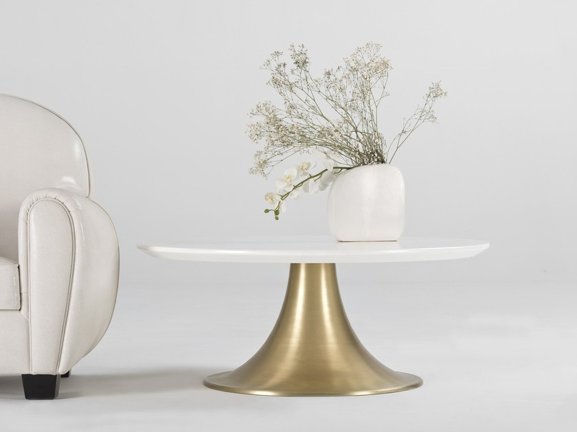 Lacquered round coffee table KLASS | Round coffee table by Muebles Canella