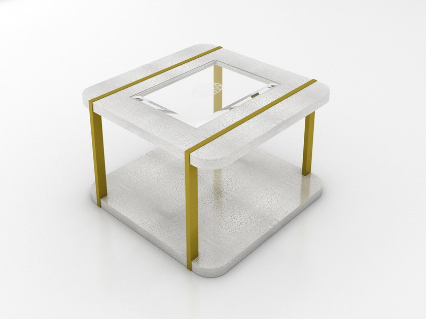 Lacquered square side table KLASS | Side table by Muebles Canella