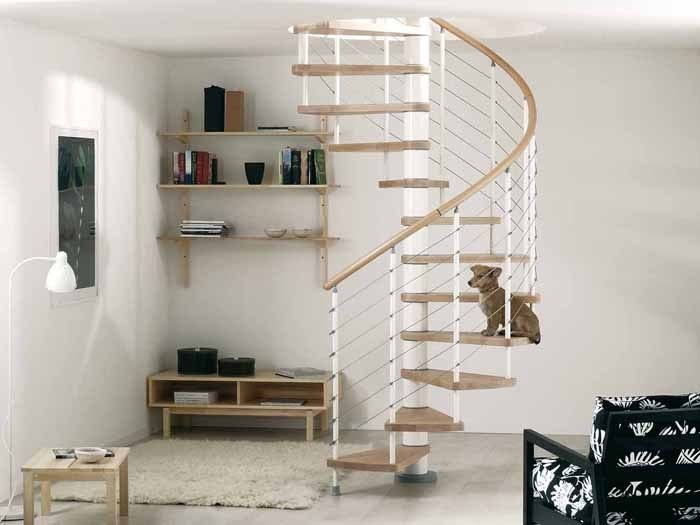 Spiral staircase in kit form KLOE' by Fontanot Spa