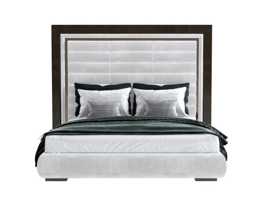 Double bed with upholstered headboard KLOE PLUS by Capital Collection