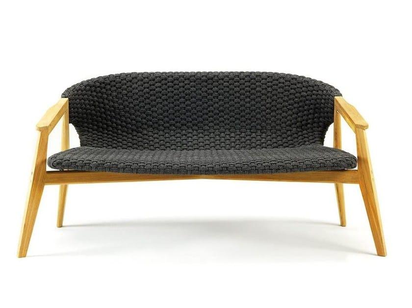 2 seater garden sofa KNIT | Garden sofa - Ethimo