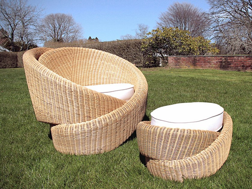 Rattan garden armchair LOVE SEAT KNOTTIES by Nea Studio