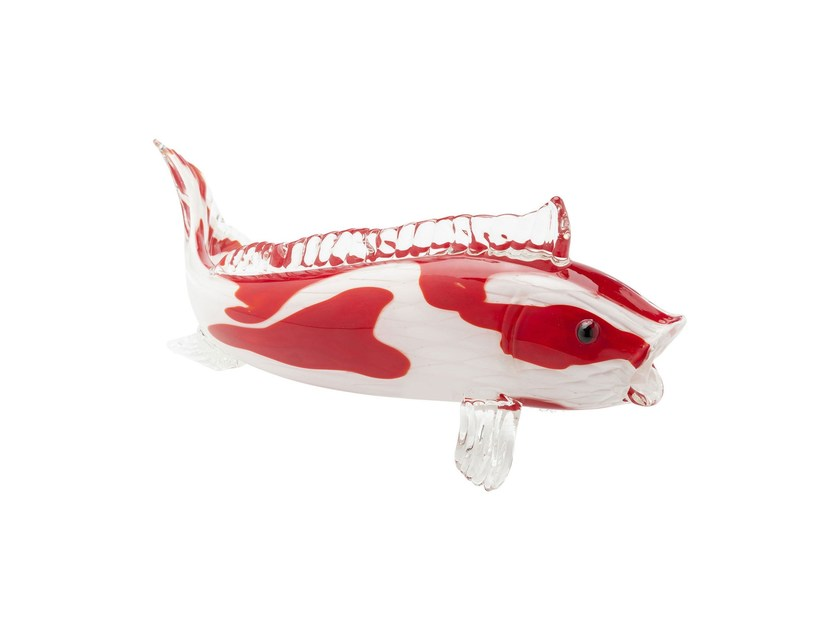 Glass decorative object KOI FISH BICOLORE - KARE-DESIGN