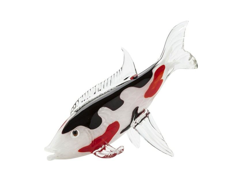 Glass decorative object KOI FISH TRICOLORE - KARE-DESIGN
