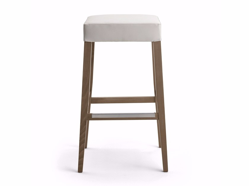 Upholstered fabric barstool KOKÒ | Stool - Varaschin