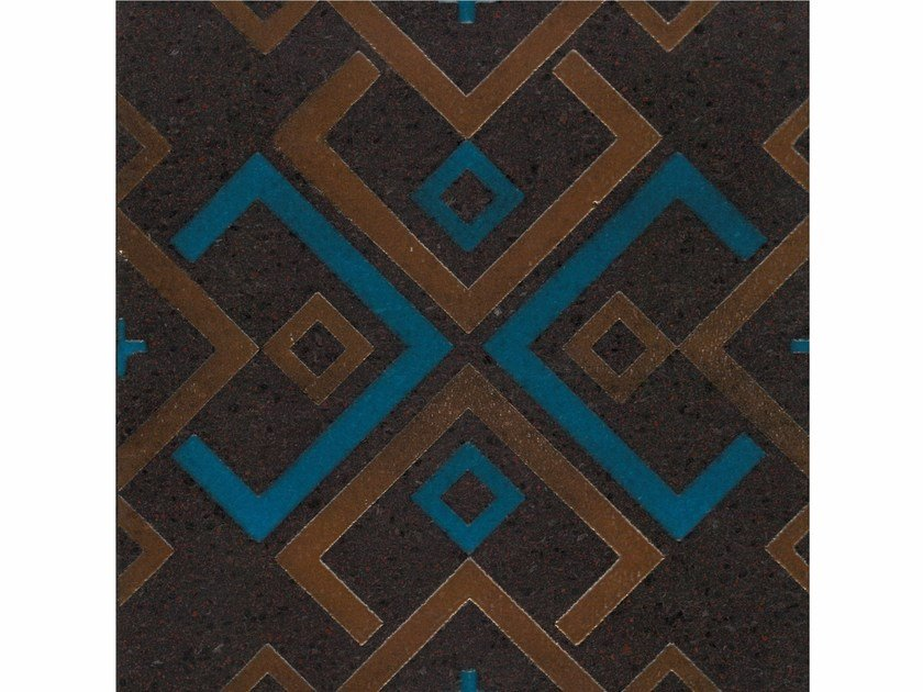 Lava stone wall/floor tiles KOMON TATTO KT23 by Made a Mano