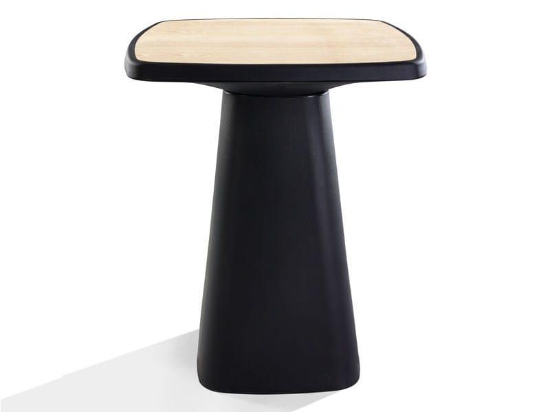 Tavolo alto quadrato in polietilene KONO | Tavolo alto - Derlot Editions