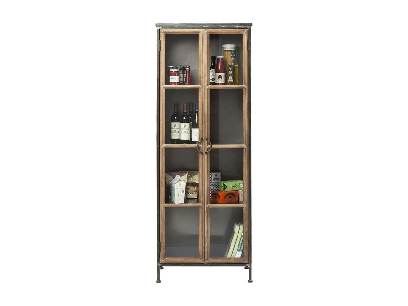 Wood and glass display cabinet KONTOR | Wood and glass display cabinet - KARE-DESIGN