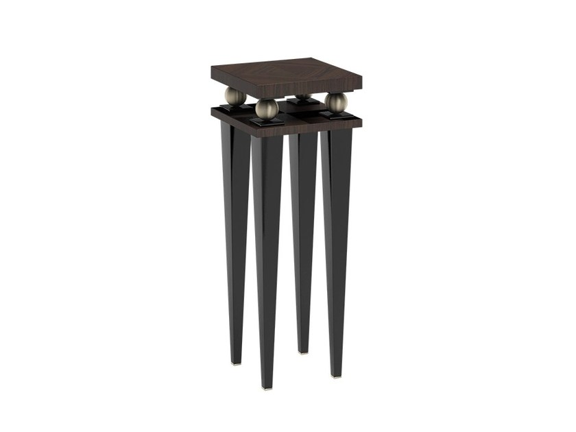 Square wooden high side table KORP END by Capital Collection