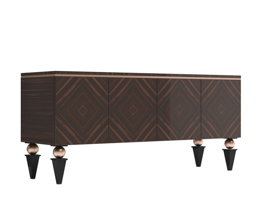 Solid wood sideboard with doors KORP | Sideboard by Capital Collection