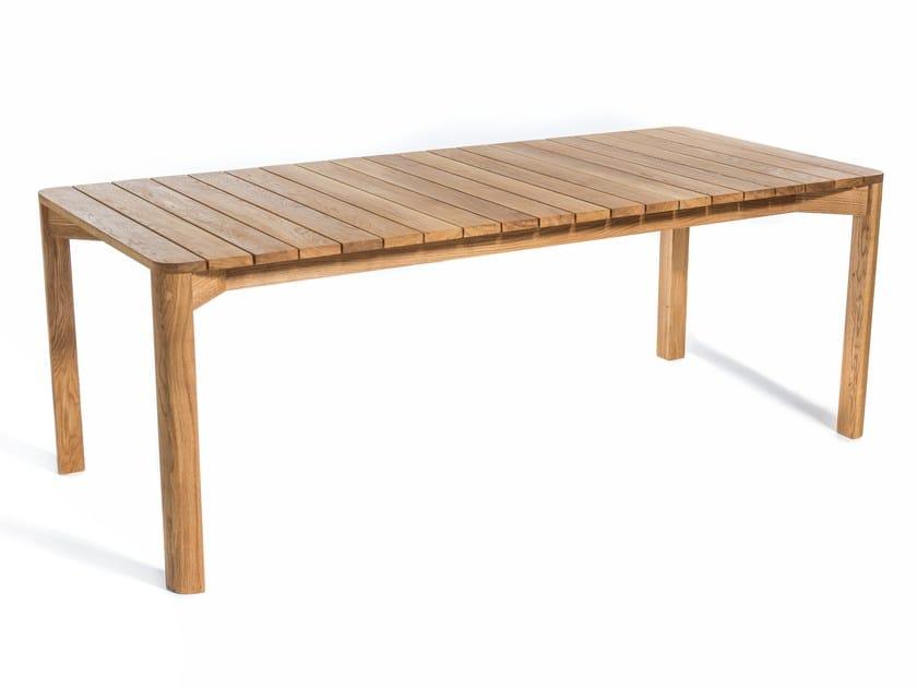Rectangular teak garden table KORSÖ - Skargaarden