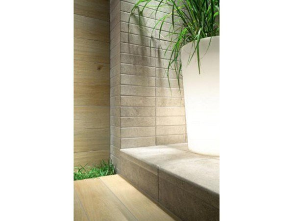 Outdoor wall/floor tiles with stone effect KORZILIUS MODERN STONE - TUBADZIN