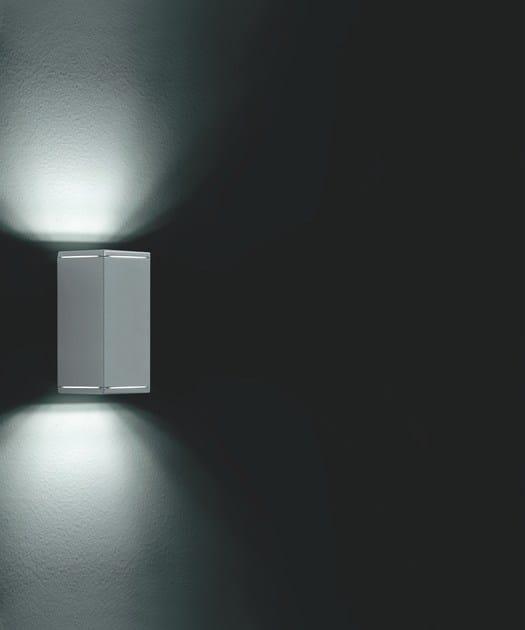 Direct-indirect light Halogen extruded aluminium Wall Lamp KOS F.6875 - Francesconi & C.