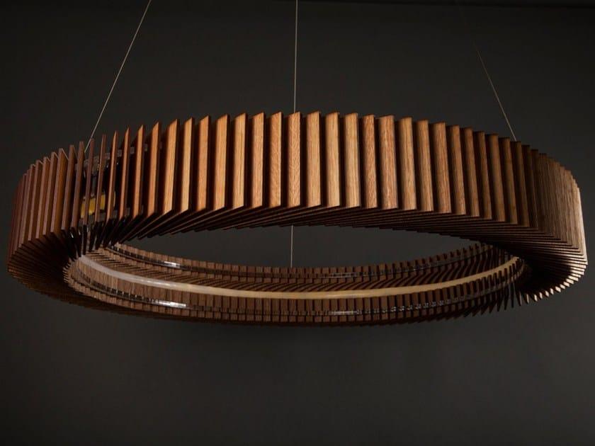 LED English oak pendant lamp KOTKA - Cameron Design House
