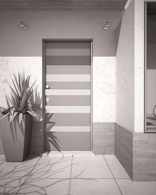 Porta d 39 ingresso acustica blindata con serratura - Porta ingresso blindata ...