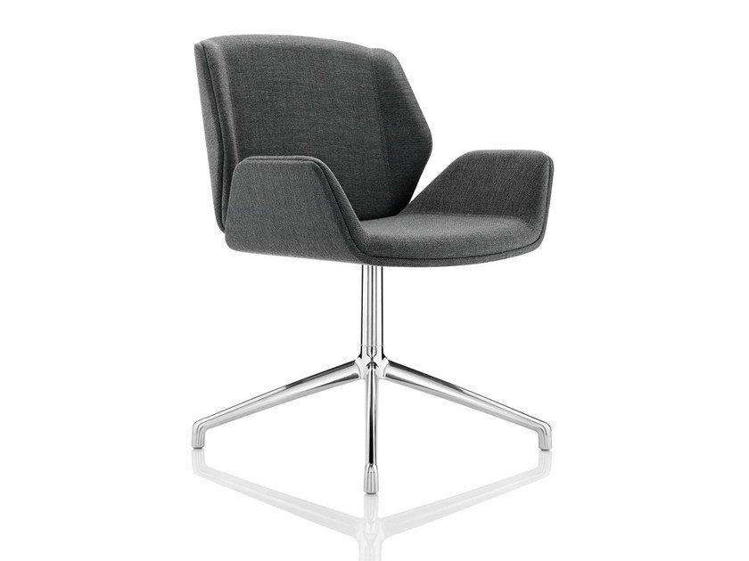 Swivel chair with 4-spoke base with armrests KRUZE | Chair with 4-spoke base - Boss Design