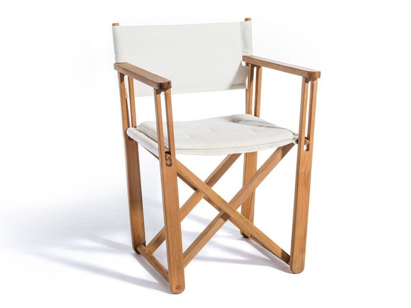 Folding chair with armrests KRYSS DINING | Chair - Skargaarden